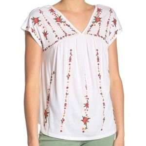 Lucky Brand Embroidered Knit Top Women  sz:XL/TG
